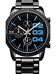 AngelaBOS Masculino Relógio Esportivo Relógio de Moda Quartzo Cronômetro Noctilucente Mostrador Grande Aço Inoxidável Banda Legal Casual