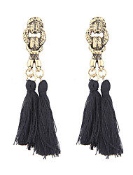 Lureme Bohemian Ethnic Handcrafted Tassel Drop Dangle Earrings Vintage Knot