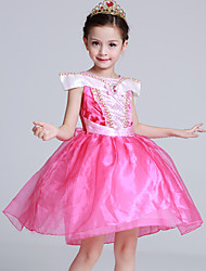 Ball Gown Short / Mini Flower Girl Dress - Satin Tulle Flocking Short Sleeve Off-the-shoulder with Bow(s) Crystal Detailing Ruffles