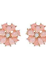 Stud Earrings Crystal Crystal Alloy Flower Style Flower Jewelry Party Daily Casual 1 pair