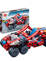 Children 's Puzzle Assembled Building Blocks Toys Hi - Tech Pull Back Car Racing Model 6964