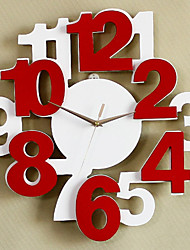 Fashion Creative Digital Wood Mute Wall Clocks