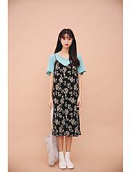 2017 весной и летом давление корейский шифон плиссированные ремень платье