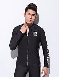 Esportivo Homens Respirável Secagem Rápida Design Anatômico Náilon Chinês Fato de Mergulho Manga Comprida Blusas-Natação Mergulho