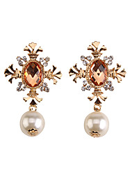 Earrings Set Jewelry Fashion Pearl Gem Alloy Jewelry Gold Jewelry For Party Gift Casual 1 pair