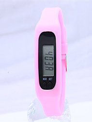 Unisex Modeuhr digital Silikon Band Bequem Orange Rosa Rose Orange Fuchsia Rosa