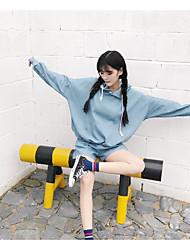 tir réel - short à capuche couleur denim solide costume