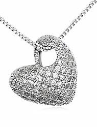 Femme Pendentif de collier Cristal Forme de Coeur Original Cœur Personnalisé Bijoux Pour