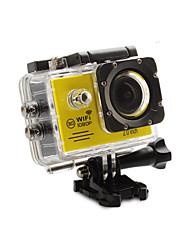 Caméra d'action / Caméra sport 12MP 1920 x 1080 Wi-Fi Etanches Capteur G Grand angle Tout en un Ajustable USB 60fps 4X 2 32 Go H.264Prise