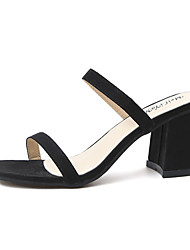 Da donna Sandali Club Shoes PU (Poliuretano) Primavera Estate Casual Formale Club Shoes Quadrato Heel di blocco Nero Giallo Rosso7,5 -