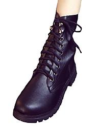 Women's Boots Fall Winter Comfort PU Casual Low Heel