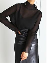 Ханго Чун вокруг две модели носить Tencel перспективу пассива рубашки + строп из двух частей костюма