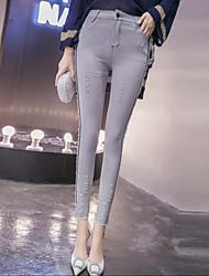2016 зима новый корейский высокой талии стрейч джинсы носить ноги карандаш брюки женщин