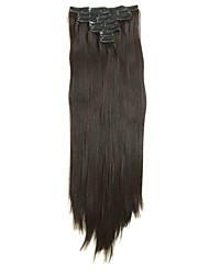 Synthetic Hair 58cm 150g with Clips 16 Clip in Hair Extensions False Hair Hairpieces Synthetic 23inch Long Straight Apply HairpieceD1015 2/33#
