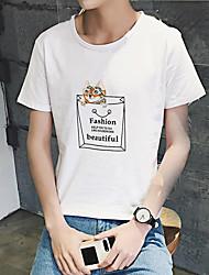 Männer&# 39; s neu Sommer Kurzarm-T-Shirt Druck grundiert Hemdtasche Katze aberdeen Wind