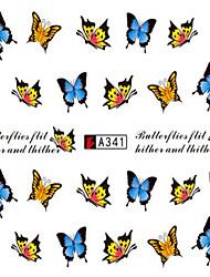 10pcs/set Fashion Nail Art Water Transfer Decals Beautiful Butterfly Nail Sticker For Polish DIY Beauty A341