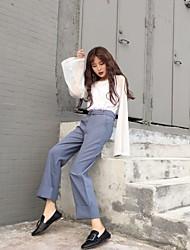 Подписать корейских шикарных брюки твердых диких керлинг талии колготки женщин отправить пояс