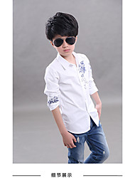 Boys' Casual/Daily Jacquard Shirt,Cotton Spring