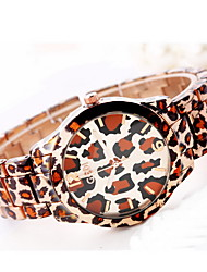 Women's Fashion Watch Water Resistant / Water Proof Large Dial Japanese Quartz Alloy Band Leopard Cool Casual Multi-Colored