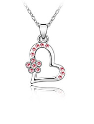 Women's Pendant Necklaces Crystal Chrome Love Heart Euramerican Fashion Personalized Jewelry For Wedding Party Congratulations 1pc