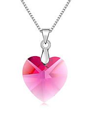 Femme Pendentif de collier Cristal Forme de Coeur Cœur Bijoux Pour Fiançailles Quotidien