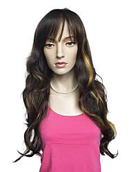 Très long mélange blond et blonde couleur synthétique cosplay costume deep ondulé hairstyle