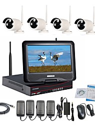 strongshine® Wireless IP Camera con 960p / infrarossi / impermeabile e NVR con i kit lcd combo 10.1inch