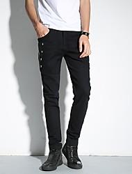 2017 printemps nouveaux hommes&# 39; s pantalons décontractés pantalons personnalité discothèque costumes