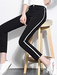 Signo 2017 pantalones patrón de diamante de primavera pantalones tramo pantalones ocasionales pantyhose snag baopei