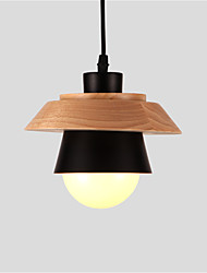 Northern Europe Simplicity Modern Wood Pendant Light Metal Living Room Dining Room Cafe Lighting