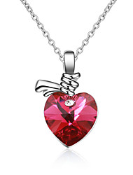 Women's Pendant Necklaces Crystal Chrome Animal Design Love Heart Fashion Personalized Euramerican Jewelry For Wedding Party Birthday