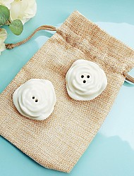 2pcs/bag Cherry Blossom Salt and Pepper Shakers in Burlap Bag Beter Gifts® Wedding Favors
