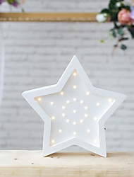 Nordic Style LED Night Light Table Lamp Wall Lamp Wall Decoration LED Ornament Children Room Decoration  Shining Pentagram Cartoon Lamp