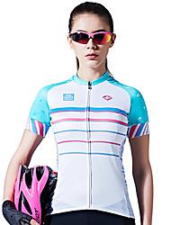 SANTIC® Maillot de Cyclisme Femme Manches courtes Vélo Respirable Séchage rapide Anti-transpiration Confortable Maillot 100 % Polyester