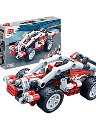 Children 's Puzzle Assembled Building Blocks Toys Hi - Tech Pull Back Car Racing Model 6966