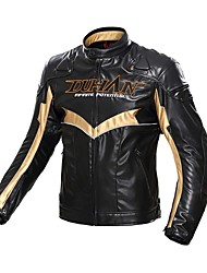 DUHAN D095 Motorcycle Jacket Motorbike Racing PU Jacket Protector Water Risistant And Windproof With 5 Pcs EVA Protective Gears