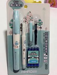 Pen Pen Fountain Pens PenMetal Barrel Black Ink Colors For School Supplies Office Supplies Pack Erasable