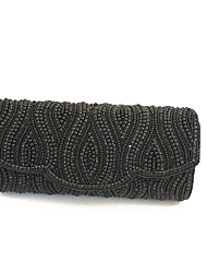 Women Stylish Pearl Beaded Clutches Evening Bags Gold/Silver/Black