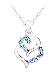 Women's Pendant Necklaces Crystal Chrome Love Heart Euramerican Fashion Personalized Jewelry For Wedding Party Birthday 1pc