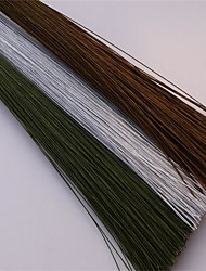 50Pcs/Set   0.45Mm 30Cm High Quality Paper Covered Artificial Branches Twigs Iron Wire For DIY  Nylon Flower Accessory