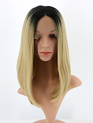 Short Bob Lace Front Wigs Synthetic Ombre Blonde Wigs for Woman Heat Resistant Fiber Hair