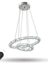 Dimmable Crystal Chandeliers Indoor LED Pendant Lighting Ring Lighting with 37 W for Dining Room