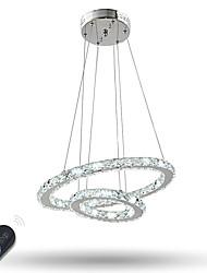 Lampe suspendue ,  Contemporain Traditionnel/Classique Plaqué Fonctionnalité for Cristal LED Graduable MétalSalle de séjour Chambre à