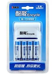 Nanfu aa bateria recarregável 2100mah 4 pack