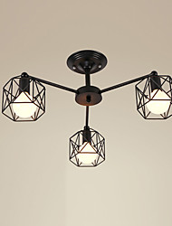 Max 60W Country Designers Metal Flush Mount Living Room / Bedroom / Dining Room / Kitchen / Study Room/Office