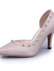 Women's Heels Summer T-Strap Leatherette Outdoor Party & Evening Dress Stiletto Heel Rivet Walking