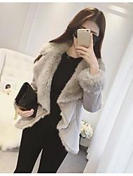novas mulheres&# 39; s temperamento era magro cordeiro solta Babados&# 39; s lã e caxemira lapela casaco de mangas compridas