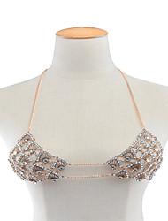 Femme Bijoux de Corps Chaîne de Corps Mode Strass Alliage Forme Géométrique Or Argent Bijoux Pour Décontracté 1pc