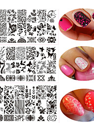 1pcs Colorful Design Sweet Lace Beautiful Design Nail Stamping Plate Nail Stainless Steel Stamping Plate Fashion Lace Stencils Nail DIY Tool BC11-20