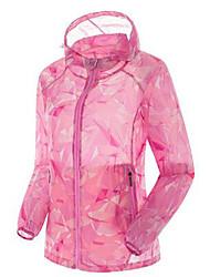 Жен. Куртка для туризма и прогулок Сохраняет тепло Ультрафиолетовая устойчивость Дышащий Верхняя часть для Отдых и Туризм Рыбалка
